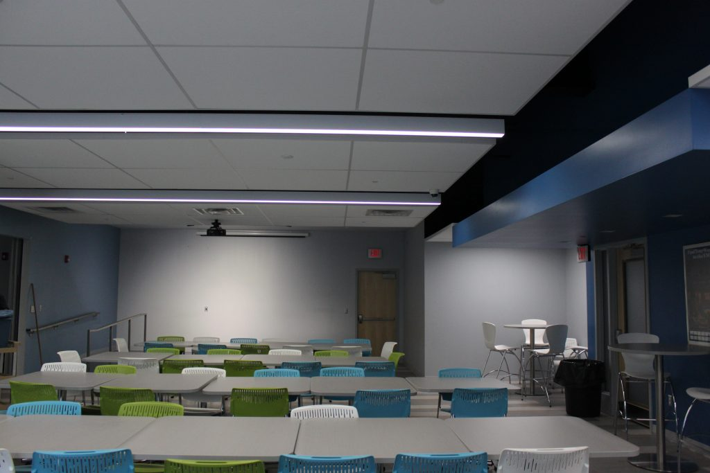 tables and seating area of homewood brushton ymca