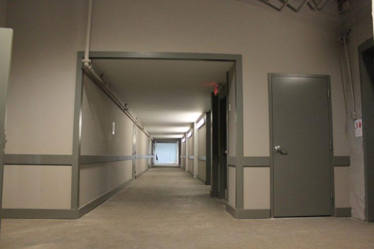 Large hallway with doors at MAC